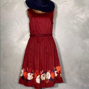 New Modcloth Pumpkin Vintage Inspired Dress Med